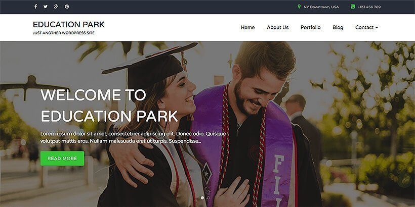 edupark free education wordpress themes