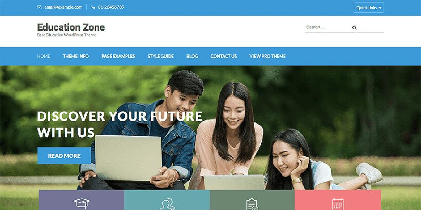 eduzone free education wordpress themes