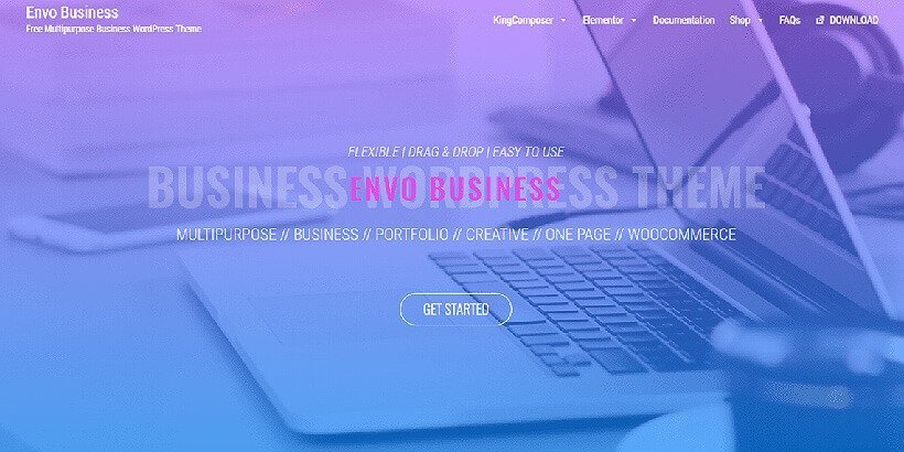 envo business free wordpress business themes