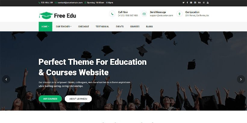20+ Best Free Education WordPress Themes for 2019 - Acme Themes
