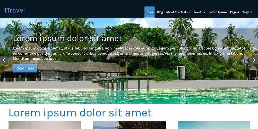 ftravel free wordpress travel themes
