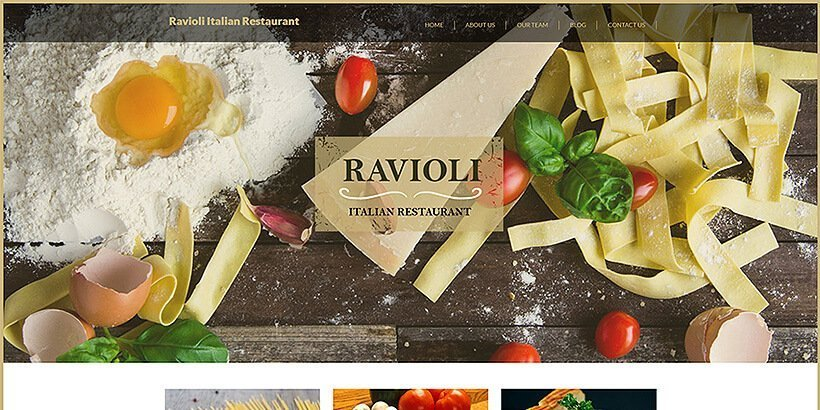 italian restaurant free restaurant wordpress themes