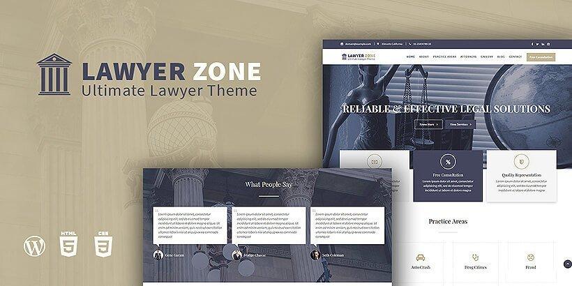 lawyerzone free wordpress business themes