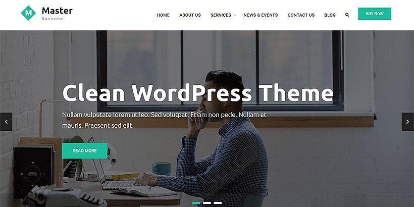 master business free wordpress business themes