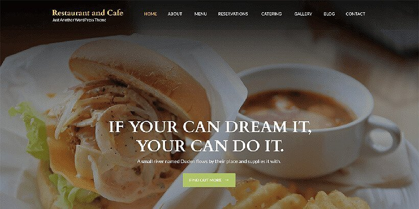 restaurantcafe free restaurant wordpress themes