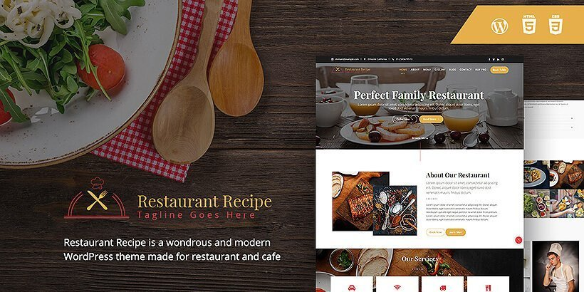 restaurantrecipe free restaurant wordpress themes