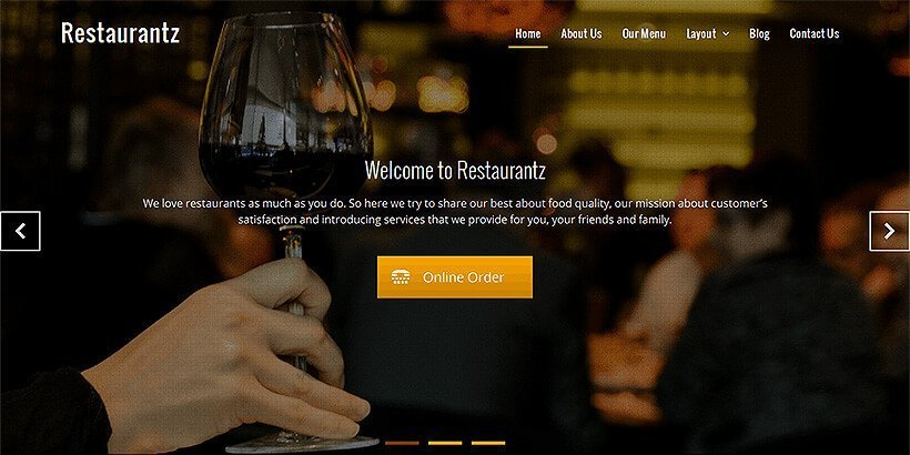 restaurantz free restaurant wordpress themes