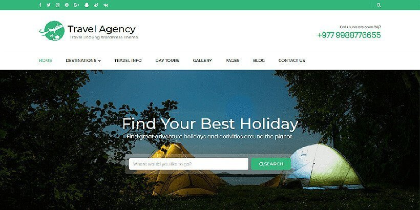 travelageny free wordpress travel themes