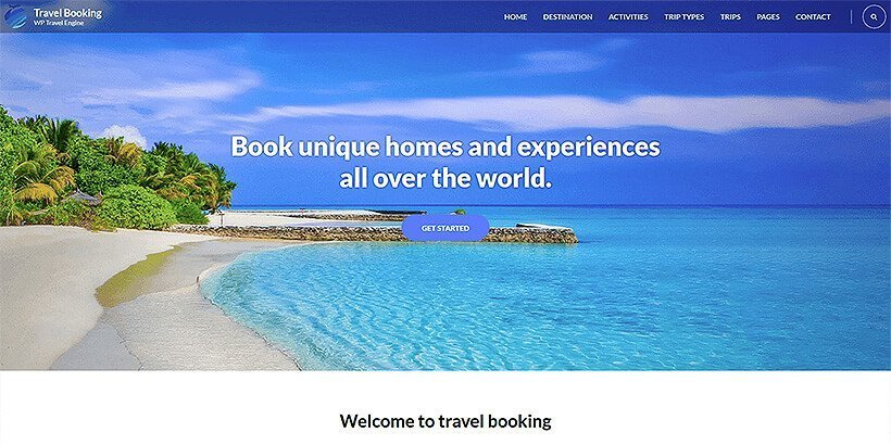 travelbooking free wordpress travel themes