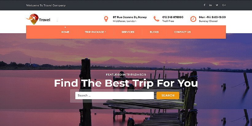 travelcompany free wordpress travel themes