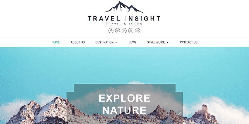 travelinsight free wordpress travel themes