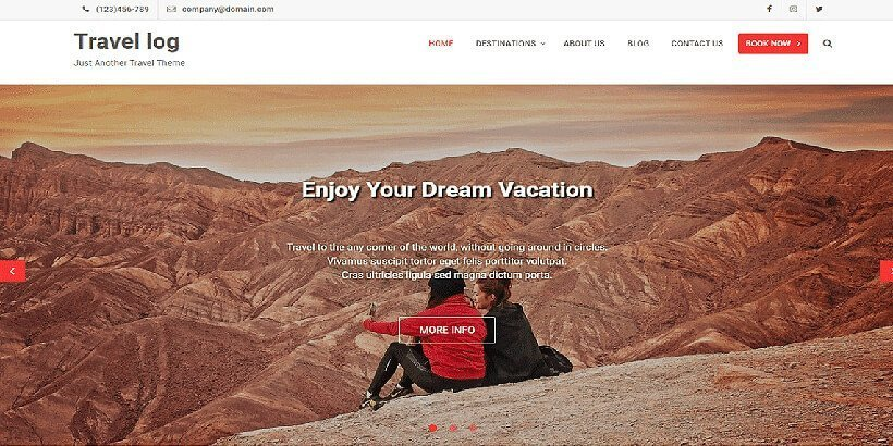 travellog free wordpress travel themes