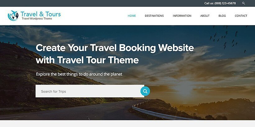 traveltour free wordpress travel themes