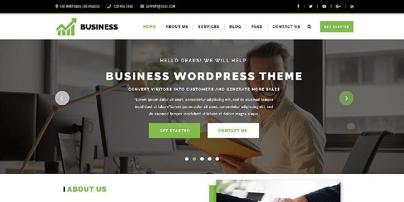 vw corporate free wordpress business themes