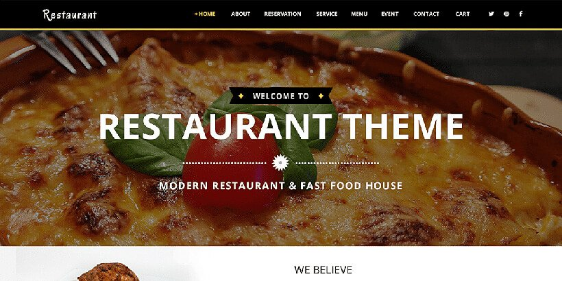 vw restaurantlite free restaurant wordpress themes