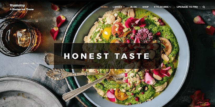 yummy free restaurant wordpress themes