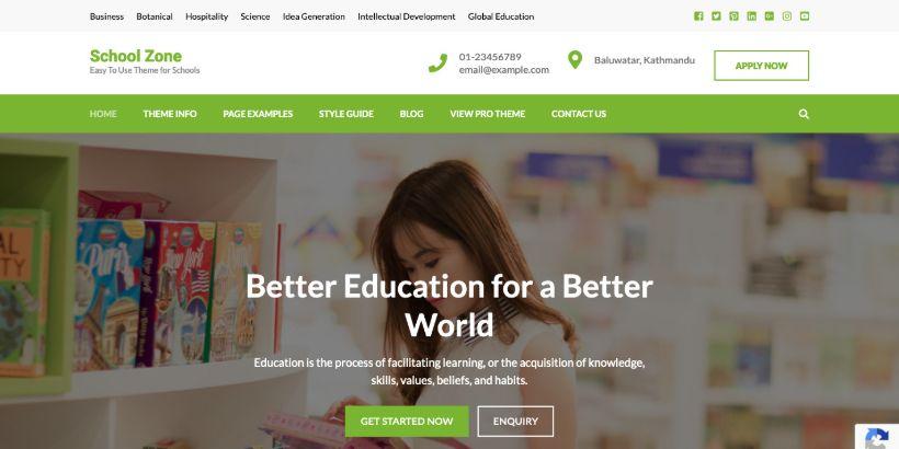 School-Zone-WordPress-Theme