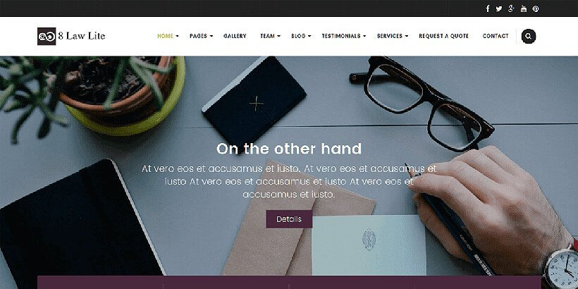 eightlaw free lawyer wordpress themes