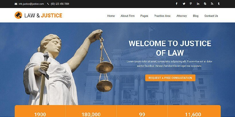 justice free lawyer wordpress themes