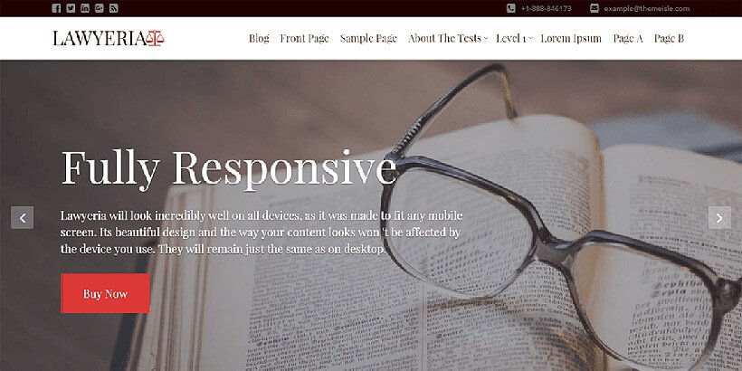 lawyeria free lawyer wordpress themes