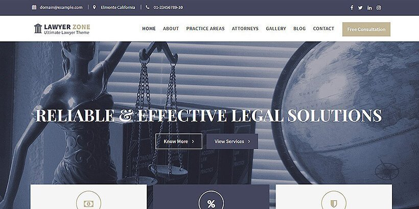 lawyerzone free lawyer wordpress themes