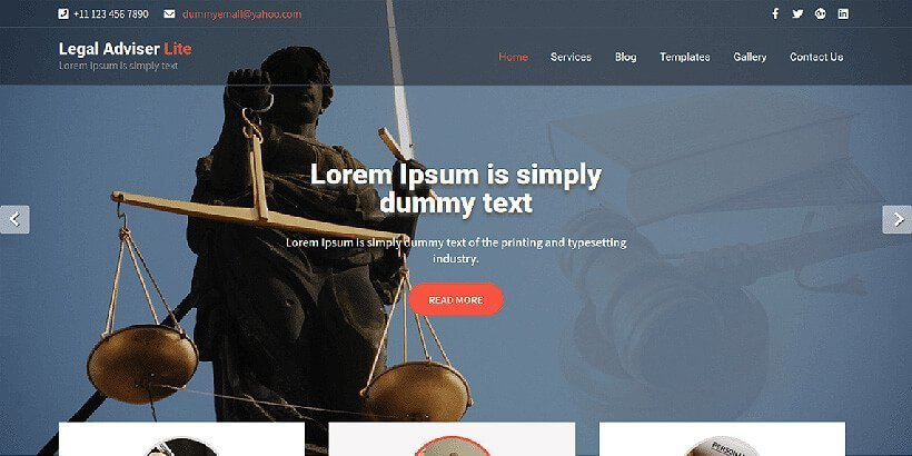 legaladviser free lawyer wordpress themes