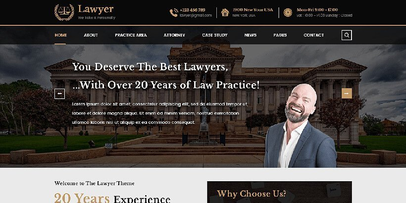 vwlawyer free lawyer wordpress themes