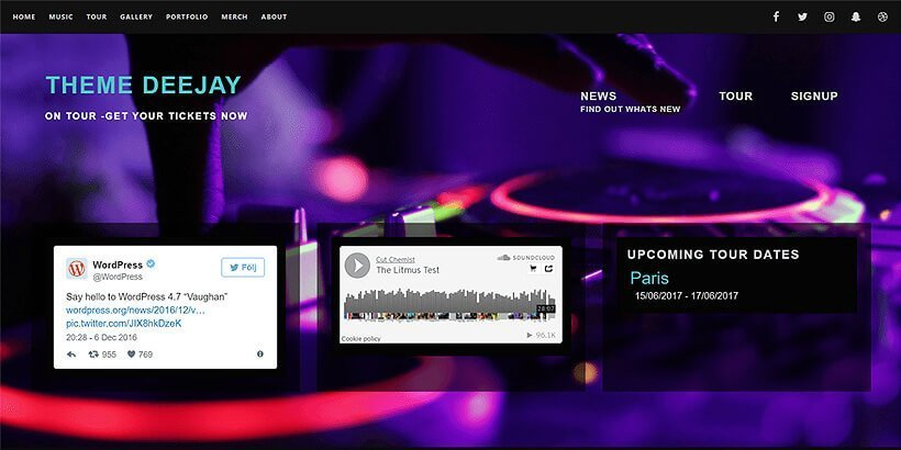 deejay free event wordpress themes