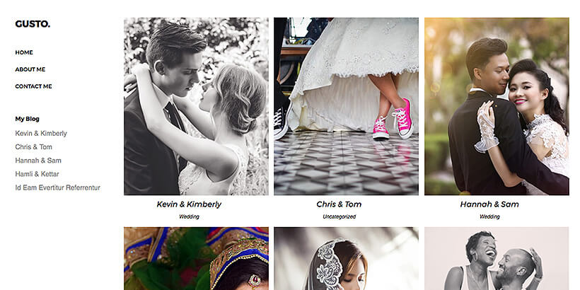 gusto free photography wordpress themes