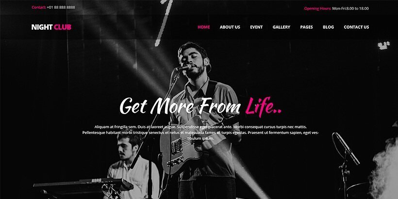 nightspot free event wordpress themes