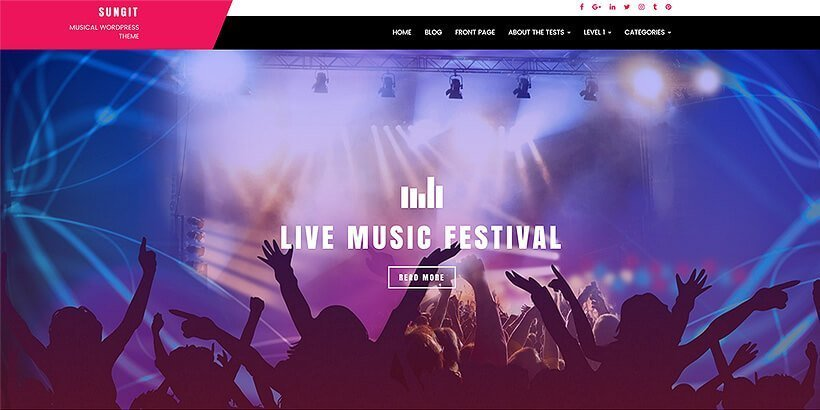 sungit free event wordpress themes