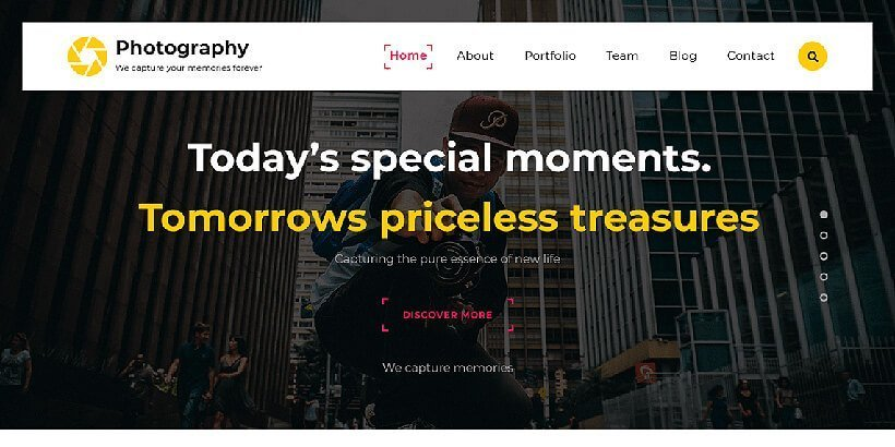 ts free photography wordpress themes