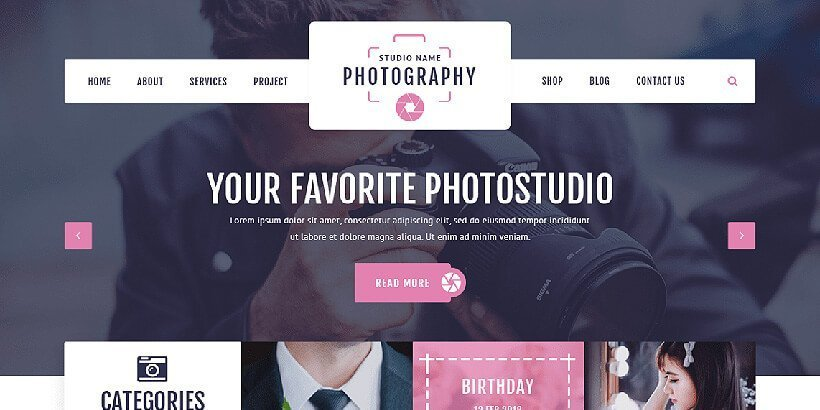 vw free photography wordpress themes