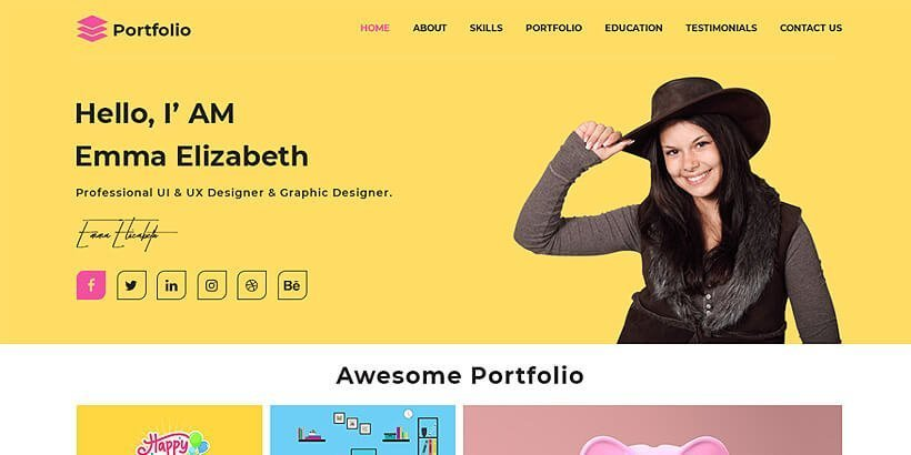 advance free portfolio wordpress themes