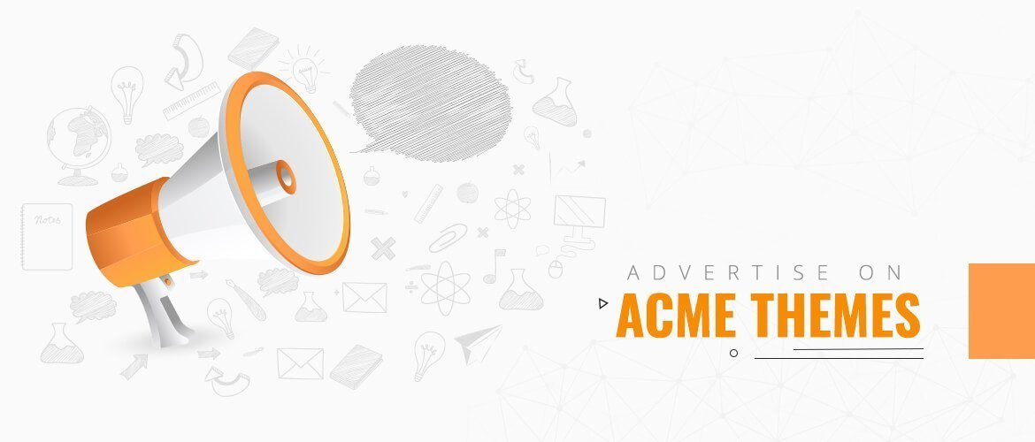 advertise on acme themes