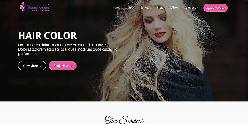 beautystudio free beauty wordpress themes