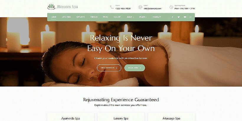 blossomspa free beauty wordpress themes