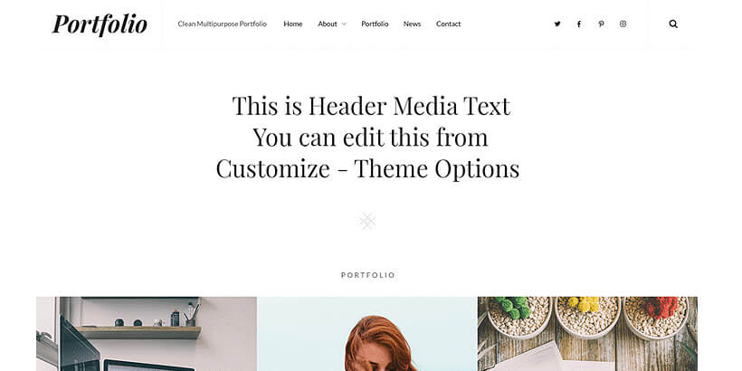 clean free portfolio wordpress themes