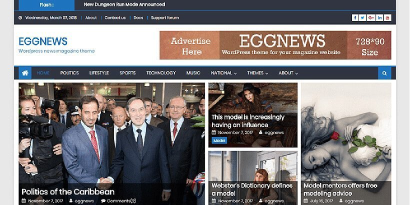 eggnews free magazine wordpress themes