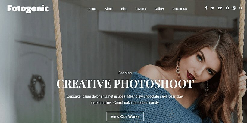 fotogenic free photography wordpress themes