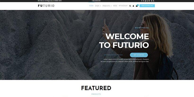 futurio free portfolio wordpreses themes