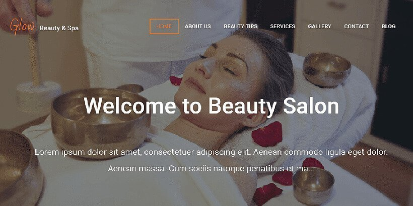 glow free beauty wordpress themes