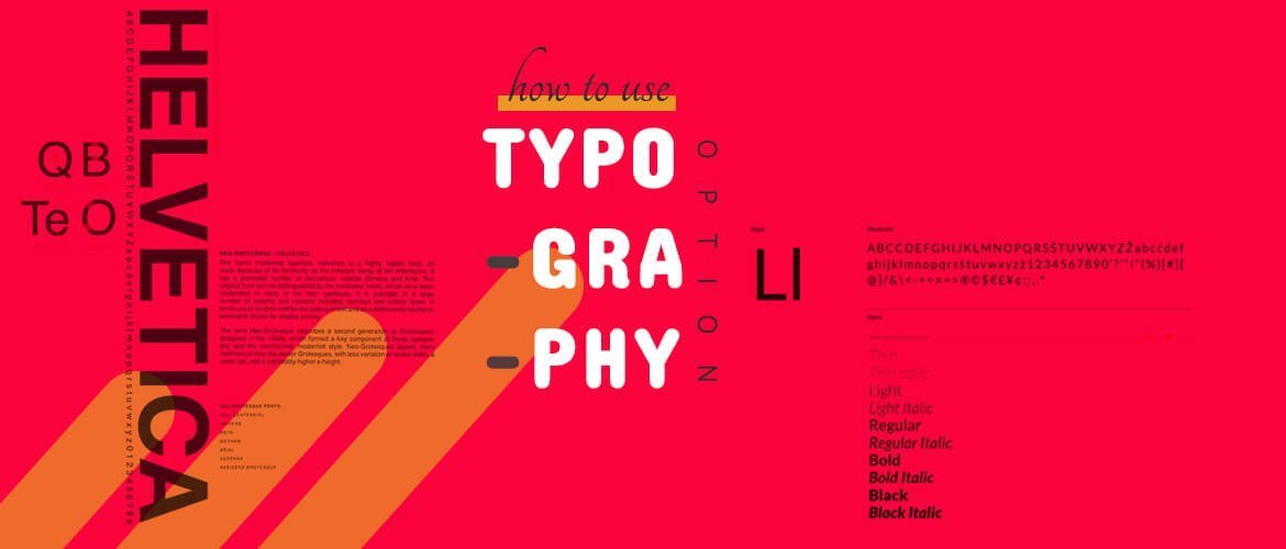 how to use typography option