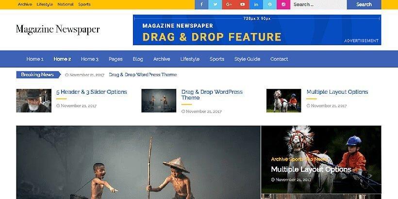 magazine newspaper free magazine wordpress themes - Acme