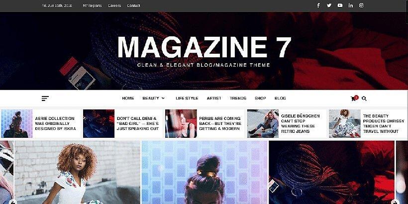 magazine7 free magazine wordpress themes