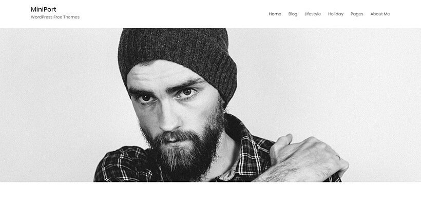 minimal free portfolio wordpress themes