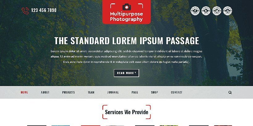 multipurpose free photography wordpress themes