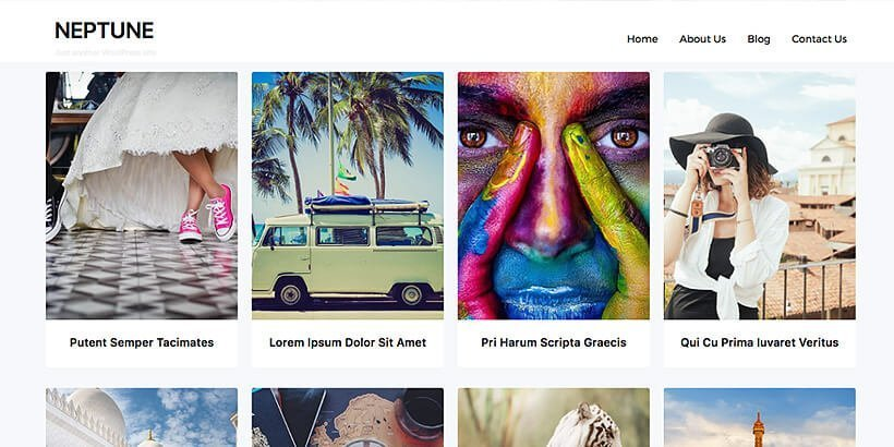 neptune free portfolio wordpress themes