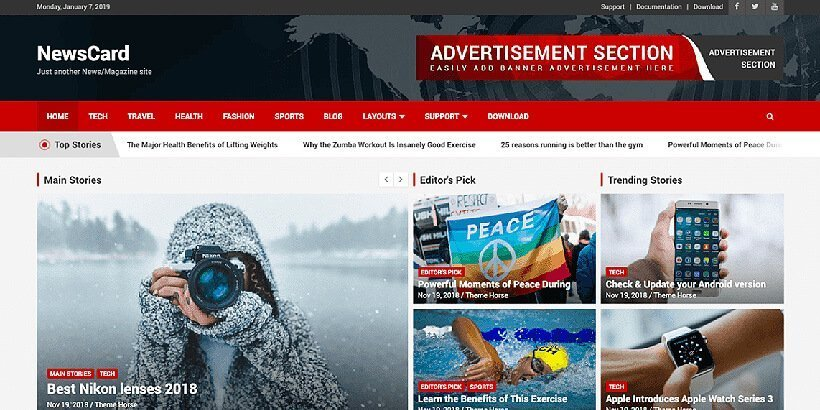 20+ Best Free Magazine WordPress Themes 2019 - Acme Themes