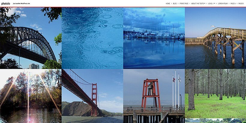 photolo free photography wordpress themes
